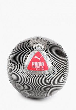 Мяч футбольный PUMA CAGE ball. Цвет: серебряный