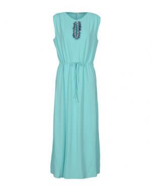 Длинное платье FAIRLY. Цвет: светло-зеленый