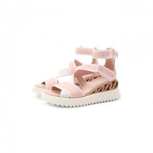Текстильные сандалии Le Silla. Цвет: розовый