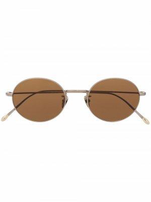 Солнцезащитные очки в квадратной оправе Giorgio Armani. Цвет: золотистый