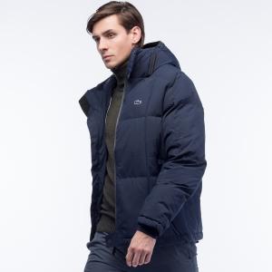 Куртка Пуховик Lacoste. Цвет: синий
