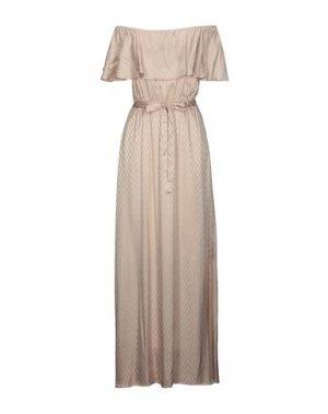 Длинное платье DRY LAKE.. Цвет: светло-розовый
