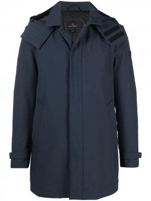 Непромокаемая куртка с нашивкой-логотипом Peuterey. Цвет: синий