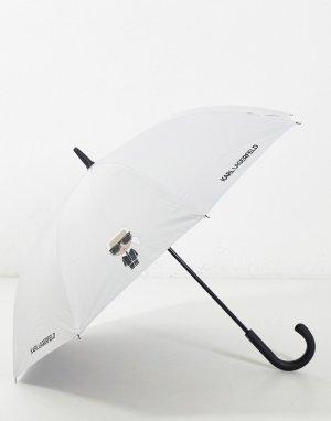 Белый зонт Karl Lagerfeld