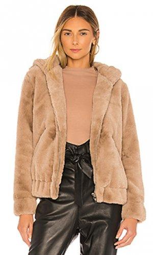 Куртка из искусственного меха BLANKNYC. Цвет: серо-коричневый