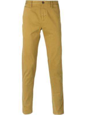 Классические брюки-чинос Burberry Brit. Цвет: жёлтый и оранжевый