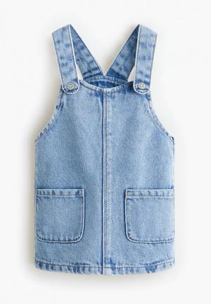 Платье джинсовое Mango Kids - ELVA. Цвет: голубой