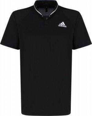 Поло мужское adidas Club Rib, размер 48-50. Цвет: черный