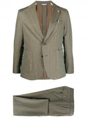 Костюм с однобортным пиджаком Manuel Ritz. Цвет: зеленый