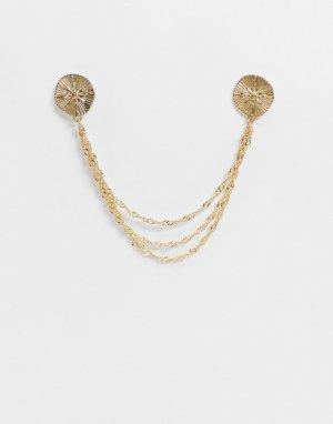 Золотистые уголки для воротника -Золотой ASOS DESIGN