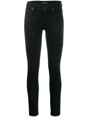 Glitter slim fit trousers 7 For All Mankind
