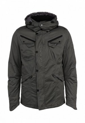 Куртка утепленная Denham DE787EMKN159. Цвет: серый