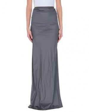 Длинная юбка GARETH PUGH. Цвет: свинцово-серый