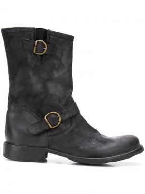 Ботинки с ремешками Fiorentini + Baker. Цвет: черный