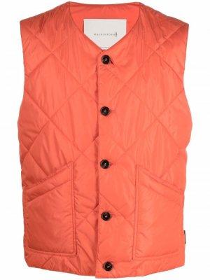 Стеганый жилет Hig Mackintosh. Цвет: оранжевый