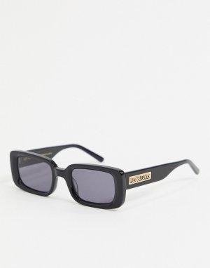 Квадратные солнцезащитные очки черного цвета с логотипом -Черный Hot Futures
