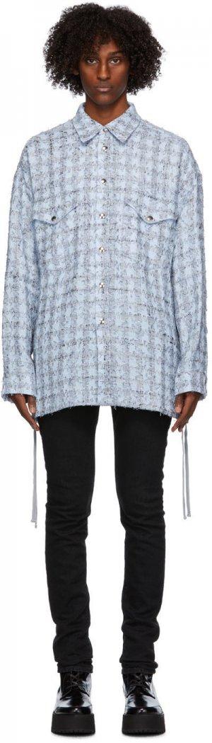 Blue Laced Tweed Overshirt Faith Connexion. Цвет: 451 sky