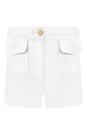 Джинсовые шорты Valentino. Цвет: белый
