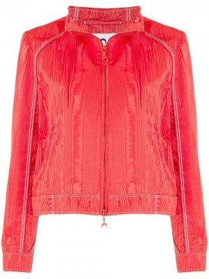 Джинсовая куртка Marine Serre. Цвет: красный