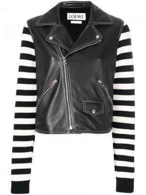 Байкерская куртка Loewe. Цвет: чёрный