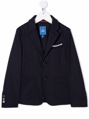 Однобортный пиджак Fay Kids. Цвет: синий