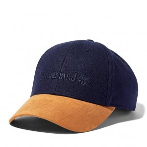 Кепки Wool Baseball Cap With Faux Suede Brim Timberland. Цвет: синий