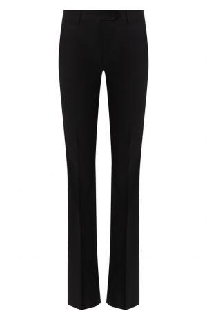 Расклешенные брюки из шерсти Kiton. Цвет: черный
