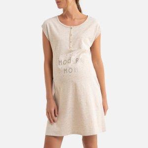 Рубашка LaRedoute. Цвет: бежевый