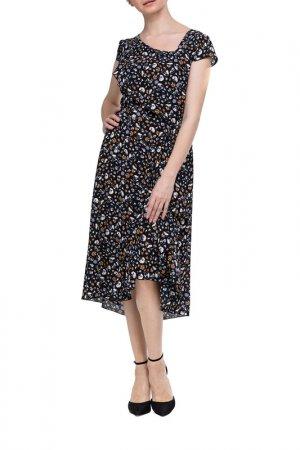 Платье Adzhedo. Цвет: черный, цветочки