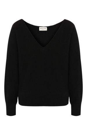 Шерстяной пуловер Dries Van Noten. Цвет: черный