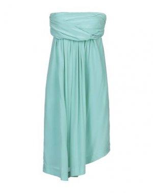 Короткое платье E-GÓ. Цвет: светло-зеленый