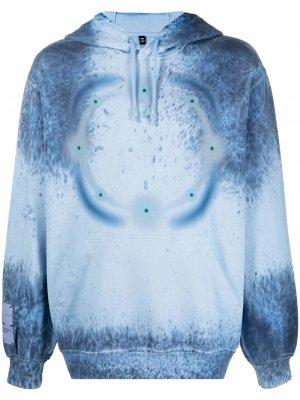 Tie dye hoodie MCQ. Цвет: синий