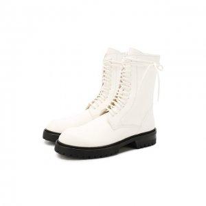 Кожаные ботинки Ann Demeulemeester. Цвет: белый