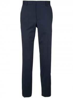 Классические строгие брюки Cerruti 1881. Цвет: синий