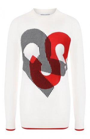 Шерстяной пуловер Sonia Rykiel. Цвет: бежевый