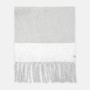 Шарфы Colorblock Blanket Scarf With Fringe Timberland. Цвет: серый