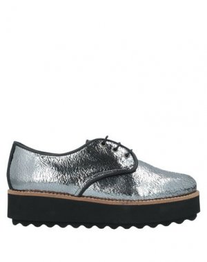 Обувь на шнурках ESPADRILLES. Цвет: свинцово-серый
