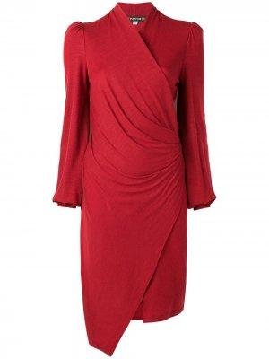 Трикотажное платье с запахом Plein Sud. Цвет: красный