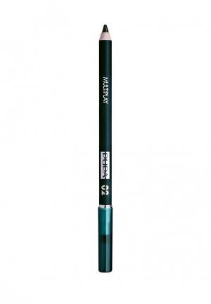Карандаш для глаз Pupa с аппликатором Multiplay Eye Pencil, 02. Цвет: зеленый