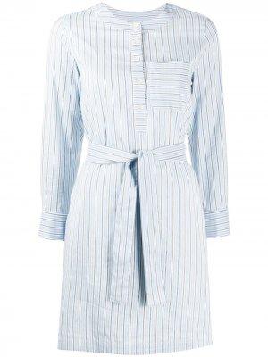 Жаккардовое платье Cyrielle в полоску A.P.C.. Цвет: синий