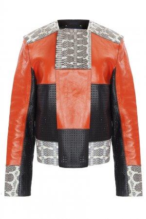 Кожаная куртка Proenza Schouler. Цвет: красный