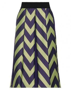 Юбка длиной 3/4 HANITA. Цвет: фиолетовый