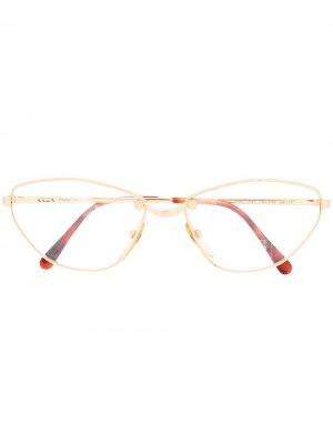 Овальные очки 1980-х годов Krizia Pre-Owned. Цвет: золотистый