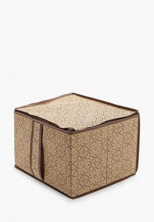 Короб для хранения Prima House Коробка стеллажей и антресолей. Цвет: бежевый