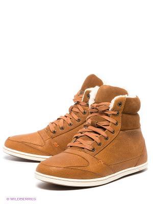 Ботинки HUB. Цвет: светло-коричневый