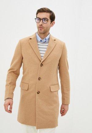 Пальто Al Franco. Цвет: бежевый