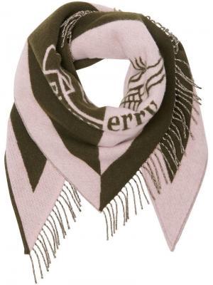 Кашемировая бандана с логотипом Burberry. Цвет: розовый