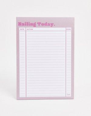 Блокнот формата A5 с надписью nailing today Typo-Мульти TYPO