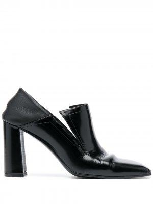 Туфли-лодочки на контрастном каблуке Nina Ricci. Цвет: черный