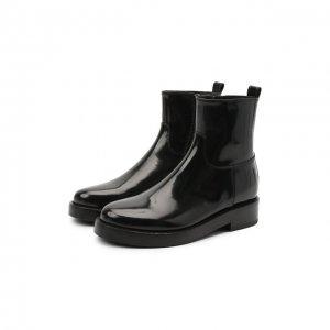 Кожаные ботинки Ann Demeulemeester. Цвет: чёрный